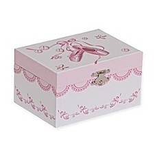 image of Mele & Co. Clarice Girl's Musical Ballerina Jewelry Box in White/Pink