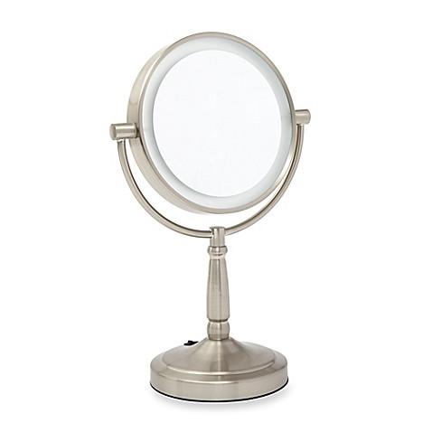 Zadro 1x 5x Led Vanity Mirror In Satin Nickel Bed Bath