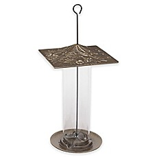 image of Whitehall Products Trumpet Vine Tube Bird Feeder in French Bronze
