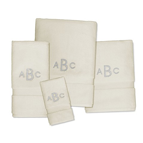 Buy Wamsutta Personalized 805 Turkish Cotton Hand Towel In Ivory From Bed Bath Beyond