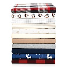 image of The Seasons Collection® Heavyweight Flannel Sheet Set