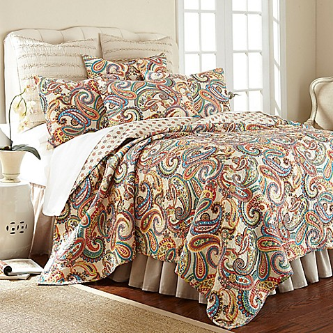 Levtex Home Alyssa Paisley Reversible Quilt Set Bed Bath
