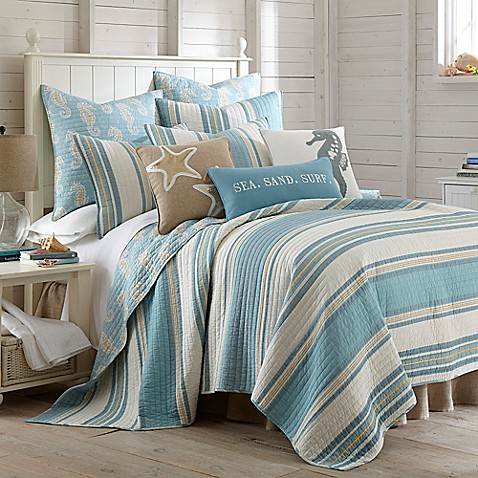 Levtex Home Blue Maui Reversible Quilt Set Bed Bath Amp Beyond