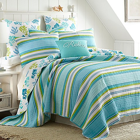 Levtex Home Cozumel Reversible Quilt Set Bed Bath Amp Beyond