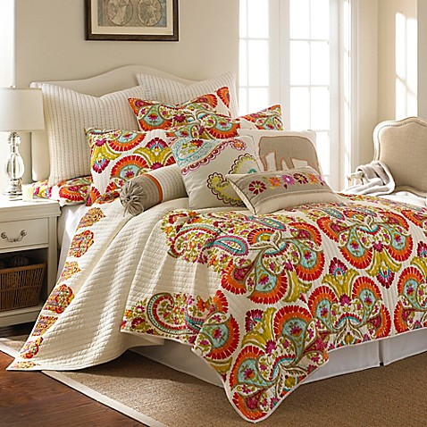 Levtex Home Windsong Quilt Set In Cream Bed Bath Amp Beyond