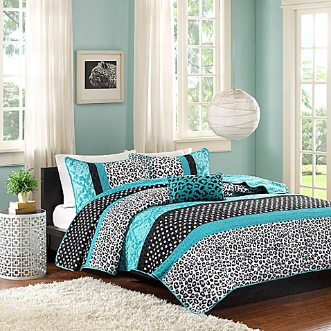 Mi Zone Chloe Coverlet Set In Teal Bed Bath Amp Beyond