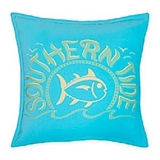 image of southern tide skipjack chino logo square throw pillow
