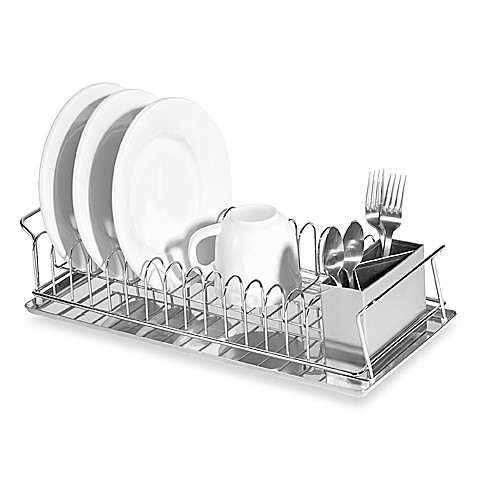 Oggiu0026trade; Compact 3 Piece Dish Rack And Cutlery Holder
