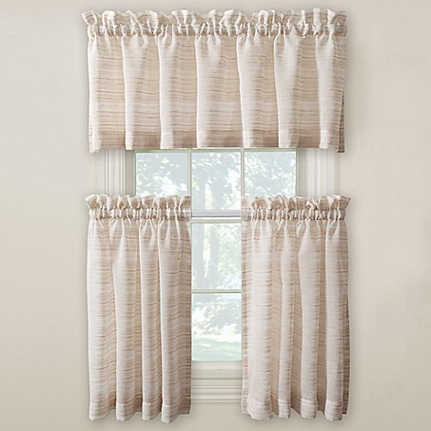 Buy surfside 36 inch kitchen window curtain pair from bed bath beyond for 36 inch bathroom window curtains