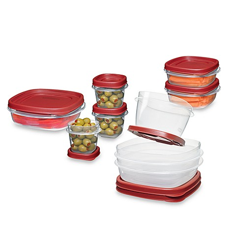 Rubbermaid easy find lids 18 piece food container set for Bathroom containers with lids
