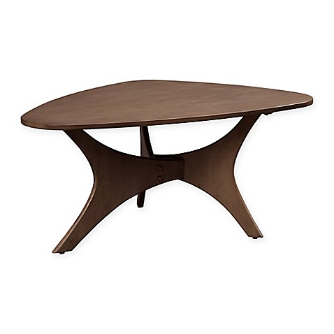 Ink Ivy Blaze Triangle Wood Coffee Table In Pecan Bed Bath Beyond