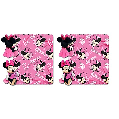 Minnie Throw And Pillow Set : NFL & Minnie Hugger and Throw Blanket Set by The Northwest - Bed Bath & Beyond