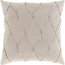 image of Surya Abakan Cotton/Linen European Pillow Sham  in Light Grey