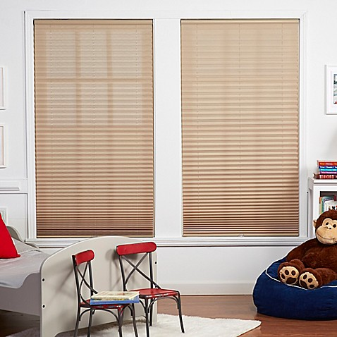 Baby Blinds Cordless Pleat Shade In Macadamia Bed Bath