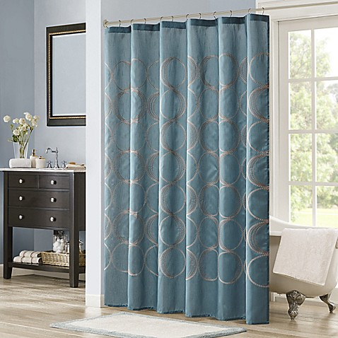 Madison Park Tamia Embroidered Shower Curtain Bed Bath