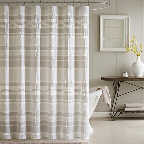 INK IVY Lakeside Printed Shower Curtain In Grey Aqua Bed Bath Beyond