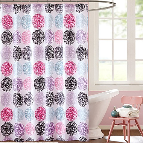 Mi Zone Carly Microfiber Shower Curtain Bed Bath Beyond