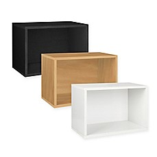 image of Way Basics Tool-Free Assembly Large Rectangle Storage Blox and Stackable Shelving