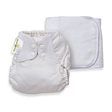 image of bumGenius™ 5.0 One-Size Snap Cloth Diaper in White