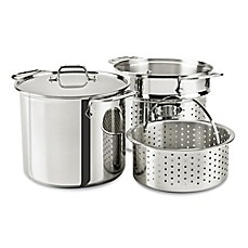 image of All-Clad 8 qt. Stainless Steel Covered Multicooker