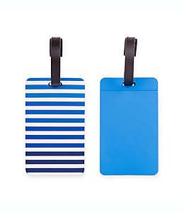 Etiquetas de PVC para equipaje Latitude 40°N® color azul, Set de 2 piezas