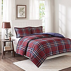 image of Premier Comfort Bernard XL 3M Scotchgard Down Alternative Comforter Mini Set in Red