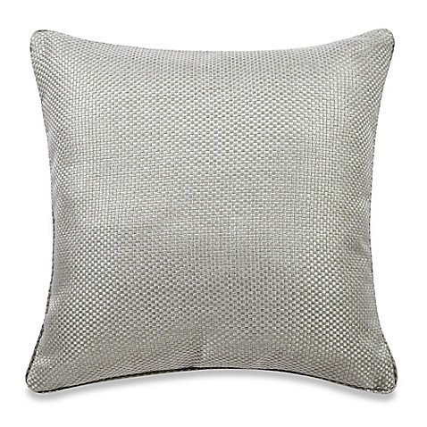 Dusty Blue Decorative Pillows : Real Simple Anya Basket Weave Square Throw Pillow in Dusty Blue - Bed Bath & Beyond