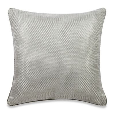 Real Simple Anya Basket Weave Square Throw Pillow in Dusty Blue - Bed Bath & Beyond