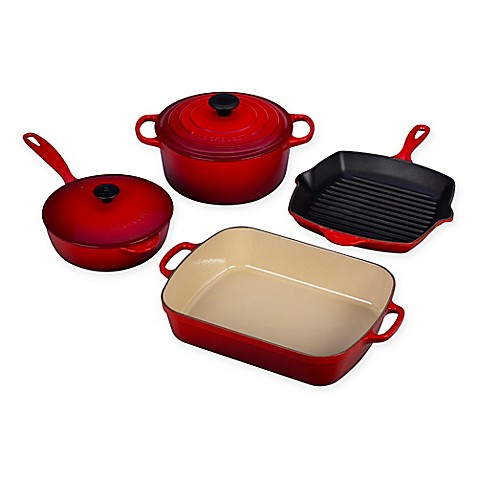 le creuset signature 6 piece cookware set bed bath beyond. Black Bedroom Furniture Sets. Home Design Ideas
