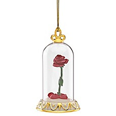 image of Lenox® Disney® Beauty and the Beast Rose Christmas Ornament