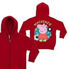image of Peppa Pig Flower Fun Zip-Up Hoodie in Red
