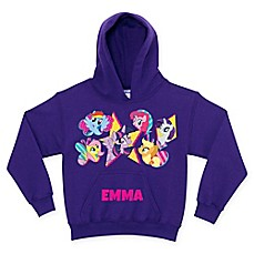 image of My Little Pony Cutie Marks Pullover Hoodie in Purple (Personalized)