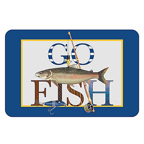 The softer side by weather guard go fish kitchen mat for What sides go with fish