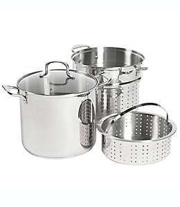 Set de olla multiusos SALT™, de acero inoxidable de 11.35 L, 4 piezas