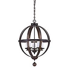 image of Savoy House Alsace Ceiling Mount Chandelier in Wood