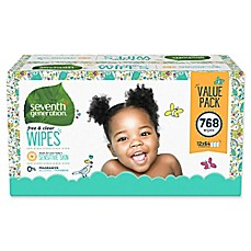 image of Seventh Generation™ 768-Count Free & Clear Wipes
