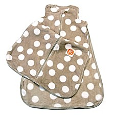 image of Gunamuna Gunapod® Plush Fleece Wearable Blanket with WonderZip® in Grey Dots
