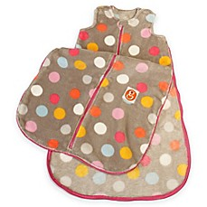 image of Gunamuna Gunapod® Small Plush Fleece Multicolor Dots Wearable Blanket with WonderZip®