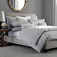 image of Barbara Barry® Ascot Duvet Cover in Smoke