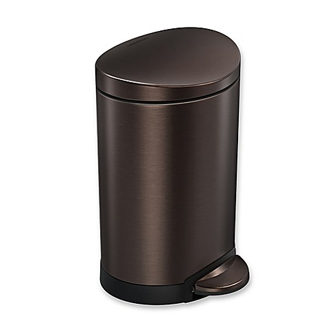 Image Of Simplehuman 6 Liter Stainless Steel Fingerprint Proof Semi Round Step