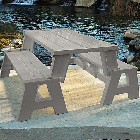 Resin ConvertABench Bed Bath Beyond - Ready to assemble picnic table