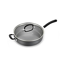 image of T-Fal® Precision Ceramic Hard Anodized 5 qt. Covered Jumbo Cooker with Helper Handle