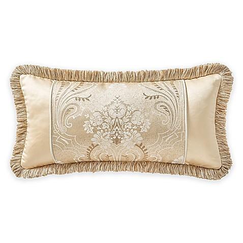 Waterford 174 Linens Copeland Pieced Boudoir Throw Pillow In