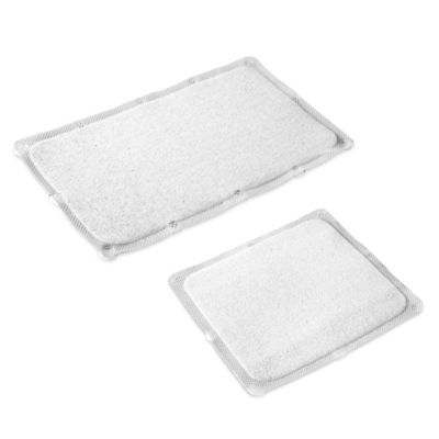 image of Bath Carpet Ultra Bath Mat with Anti-Slip Backing in Clear