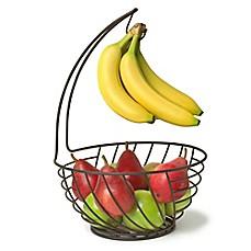banana holder with fruit basket | Bed Bath & Beyond