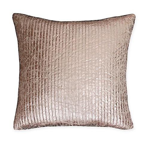 Buy Thro Gary Quilted Crackle 26-Inch Square Throw Pillow in Gold from Bed Bath & Beyond