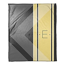 image of Multi Shade Personalized Throw Blanket in Yellow/Grey