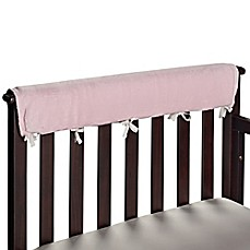 image of Go Mama Go® Designs Luxurious Minky Teething Guards in Pink/Chocolate
