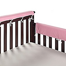 image of Go Mama Go® Designs 30-Inch x 12-Inch Cotton Couture Teething Guards in Pink/White