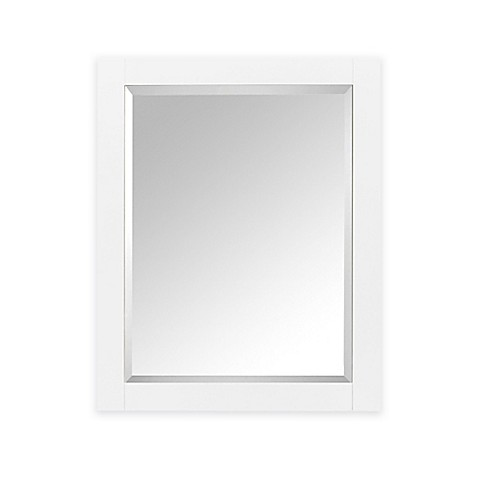 white wood framed bathroom mirrors buy avanity 1400 24 inch x 30 inch wood framed mirror 24702